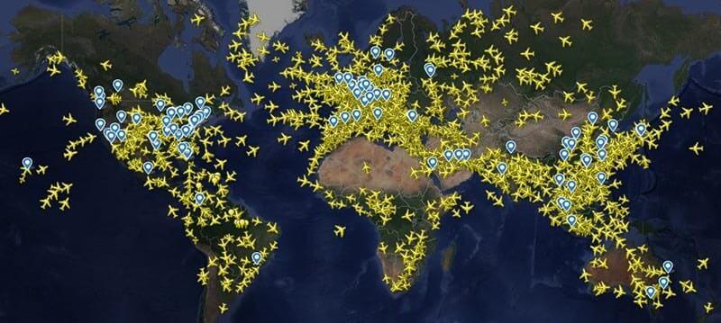 Pokrycie Flightradar 24 — co można śledzić?